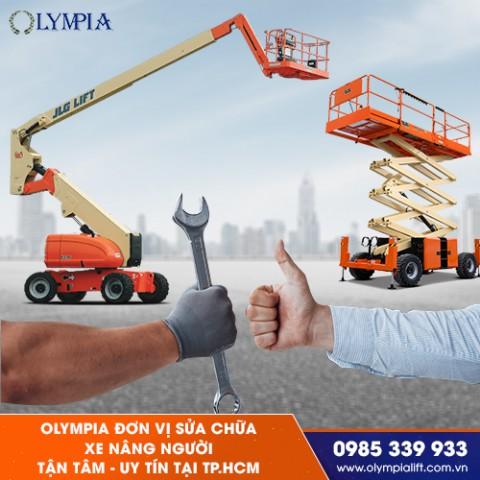 Olympia - đơn vị sửa chữa xe nâng người tận tâm - uy tín tại TP.HCM